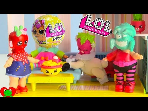 LOL Surprise Dolls Turn Into Shopkins Heads In Shopkins Doll House