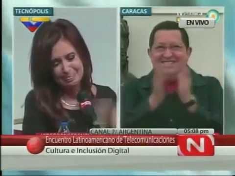 Chávez hace llorar a Cristina Kirchner