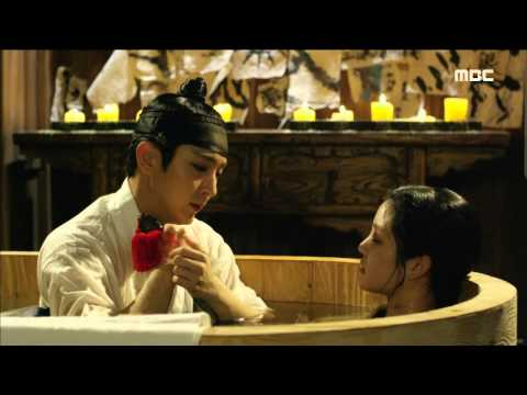 [Scholar Who Walks The Night] 밤을 걷는 선비 10회 - Lee Joon-ki give Lee Yu-bi a bath    20150806
