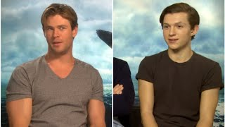 Video Tom Holland and Chris Hemsworth on which cast member they'd eat first! MP3, 3GP, MP4, WEBM, AVI, FLV Januari 2018