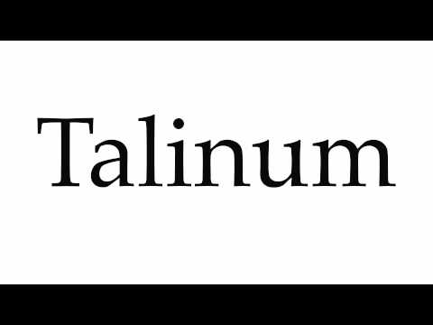 How to Pronounce Talinum