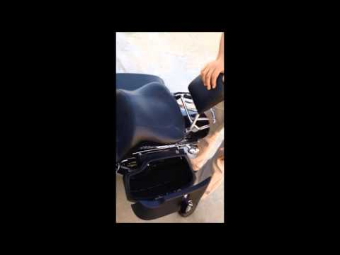 Viking Hard Saddle Bags on HD Fat Bob