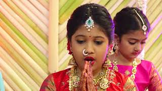 Video karanam balaram grand daughter's , isha ,anvvika krisna  half saree fuction MP3, 3GP, MP4, WEBM, AVI, FLV September 2018