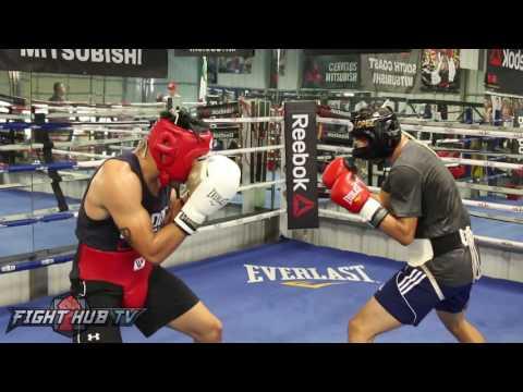 Heated Sparring! Josesito Lopez vs Misael Rodriguez at RGBA! (видео)