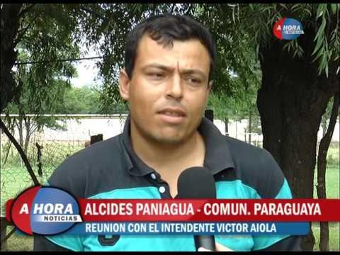 Las comunidades boliviana y paraguaya recibieron a Aiola