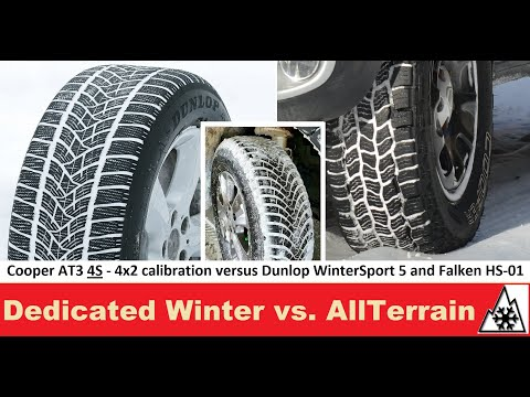 Winter Tires Versus AT Cooper AT3 4S - Traction Tests