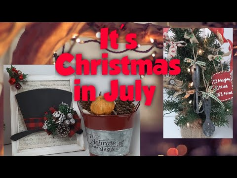 CHRISTMAS IN JULY DIY'S   Dollar Tree Christmas crafts   Friend Friday Hop