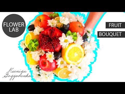 Making Mini Flower BOUQUET with fruits How to make Edible Fruit Bouquet Arrangements!