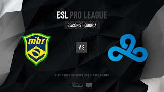 MIBR vs Cloud9 - ESL Pro League Season 9 NA - map2 - de_train [MintGod & SSW]