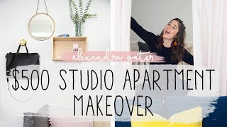 Studio Apartment Makeover For Under $500 | Separate Bedroom Hack