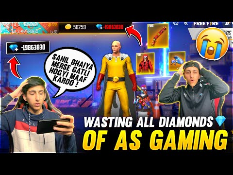 Wasting All Diamonds 💎Of As Gaming By His Brother Free Fire Prank Gone Wrong😂  - Garena Free Fire