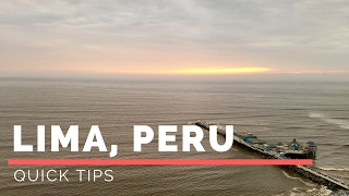 "Tips for Lima PeruTravel Video: https://www.youtube.com/watch?v=wM_PsNYOPJs&feature=youtu.be  Instagram: Quick Trips and TipsLima is the capital and the largest city of Peru. It is located in the valleys of the Chillón, Rímac and Lurín rivers, in the central coastal part of the country, overlooking the Pacific Ocean. Together with the seaport of Callao, it forms a contiguous urban area known as the Lima Metropolitan Area. With a population of almost 10 million, Lima is the most populous metropolitan area of Peru and the second-largest city in the Americas (as defined by ""city proper""), behind São Paulo and before Mexico City.Lima was founded by Spanish conquistador Francisco Pizarro on January 18, 1535, as Ciudad de los Reyes. It became the capital and most important city in the Spanish Viceroyalty of Peru. Following the Peruvian War of Independence, it became the capital of the Republic of Peru. Around one-third of the national population lives in the metropolitan area."