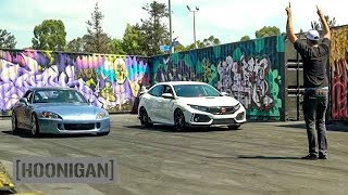 Video [HOONIGAN] DT 095: 2018 Civic Type R vs S2000 with Alexander Rossi #SPACERACE MP3, 3GP, MP4, WEBM, AVI, FLV Oktober 2017
