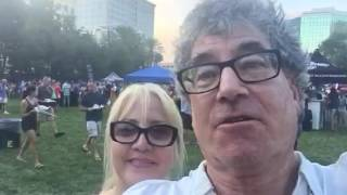Lori and Randall at the Battles of the Burgers downtown Ft Lauderdale