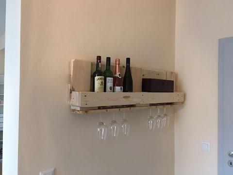 Bauanleitung für Weinregal aus Europaletten/ Palettenregal/ Palettenmöbel/ Regal aus Paletten