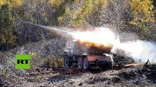 Ejercicios militares del Ejército ruso cerca de la península coreana