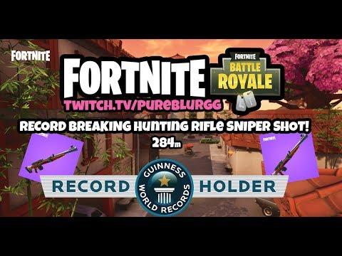 284m WORLD RECORD BREAKING Hunting Rifle SHOT! LONGEST Sniper Shot in Fortnite Battle Royale