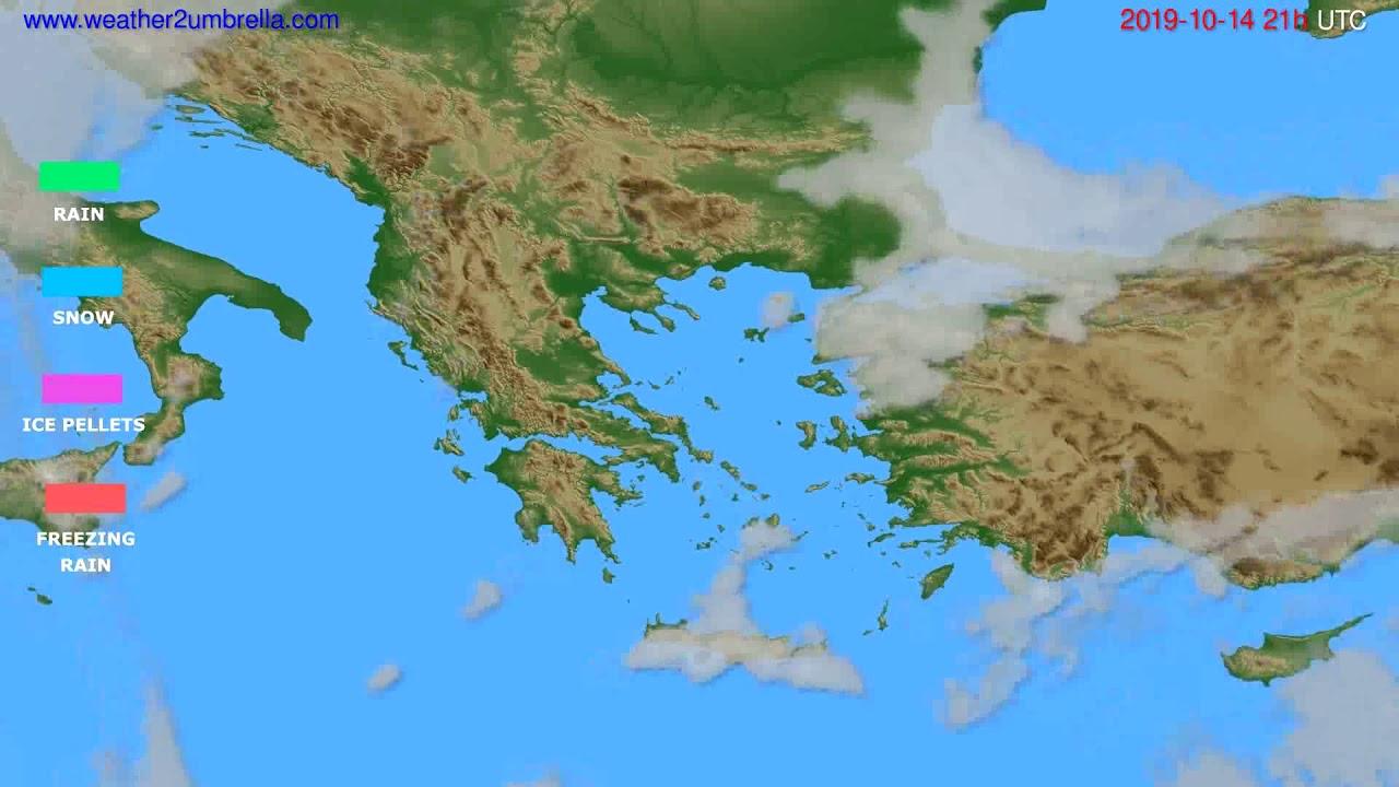 Precipitation forecast Greece // modelrun: 00h UTC 2019-10-13