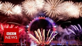 New Year fireworks 'show London is open'  - BBC News