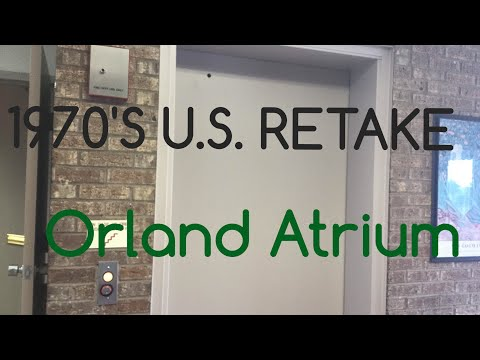 1970's U.S. elevator at Orland Atrium, Orland Park, Illinois
