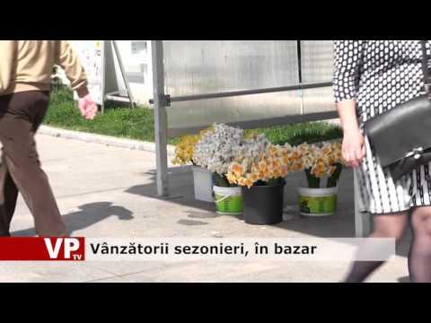 Vânzătorii sezonieri, în bazar