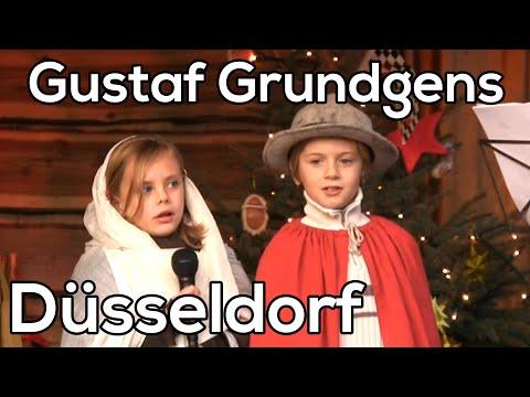 Gustaf Grundgens platz Dusseldorf Kerstmarkten