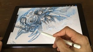 iPad Pro 12.9 & Pencil Artist Review (vs Cintiq Companion)