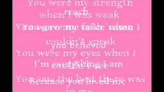 Because You Loved Me - Celine Dion [Lyrics]