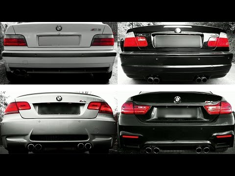bmw m3: the evolution of sound - e92 vs e46 vs e36 and also m4
