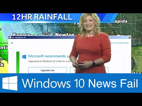 Window 10 Update Pop Up On Live TV!