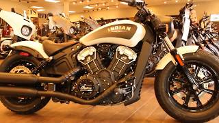 10. 2019 Scout Bobber ABS White Smoke at North County Indian Motorcycle in San Marcos, CA