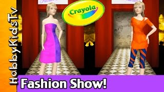 Crayola Virtual Design Pro! Fashion Show Collection HobbyKidsTV