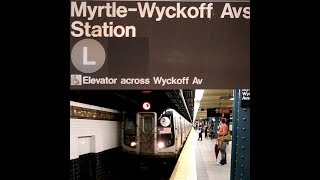 Due to Manhattan-bound service bein' behind schedule, here are several Manhattan-bound R143 L trains back to back to back in action at Myrtle-Wyckoff Avenues!NOTE: There's no M train service to this staion at this timeFOLLOW ME: Google: http://plus.google.com/+BwayLineEntTwitter: http://twitter.com/BwayLine7795Facebook: http://FB.me/BLETransitInstagram: http://Instagram.com/reggakabwaylineThankx for watchin' and stay tuned for the latest uploads