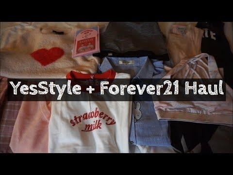 YesStyle & Forever 21 Haul   Catherine Au Jong