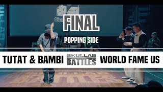 Tutat & Bambi vs World Fame Us (Boogaloo Kin & Jaygee) – SKULLAB BATTLES 2019 POPPING FINAL
