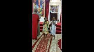 St. Michael Ethiopian Orthodox Church In Las Vegas - የላስ ቬጋስ ቅዱስ ሚካኤል ዘማሪ ህፃን ሚርያም እና ጓደኛዋ