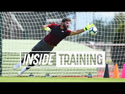 Inside Training: Action-packed First Session For Alisson | Great Goals, A World-class Save And More