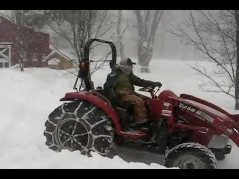 Snow In South Dayton, N.Y.
