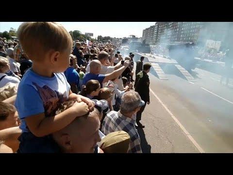 Σοβιετικό τανκ ανετράπη μετά από στρατιωτική παρέλαση