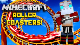 How To Build a Roller Coaster IN MINECRAFT!! Roller Coaster Extravaganza!