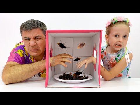Nastya y papá desafío misterioso en casa, desafíos divertidospara niños