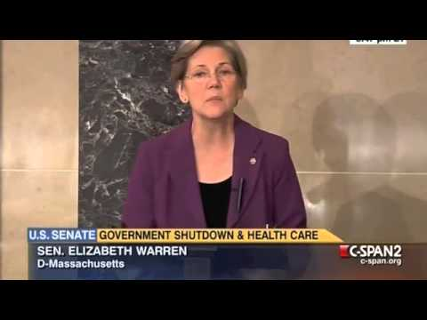 senator - Senator Warren delivered remarks on the floor of the Senate on September 30, 2013. Full speech.