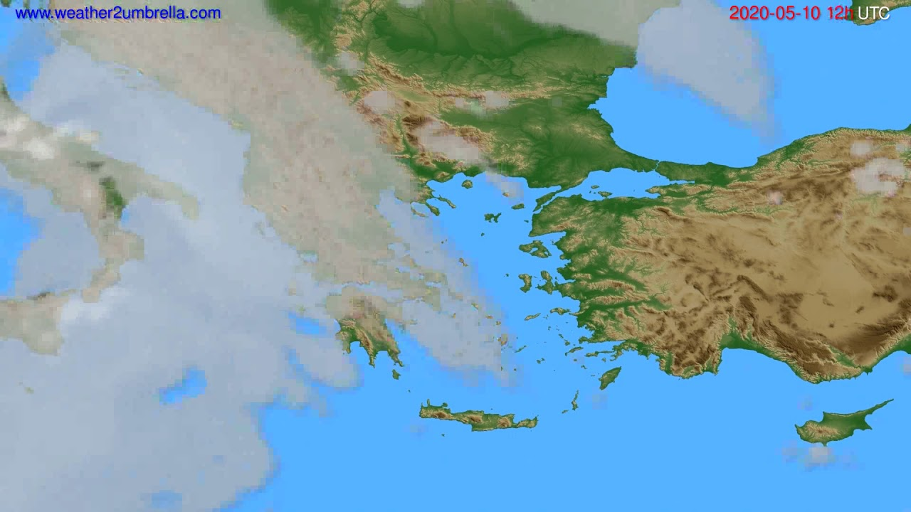 Cloud forecast Greece // modelrun: 00h UTC 2020-05-10