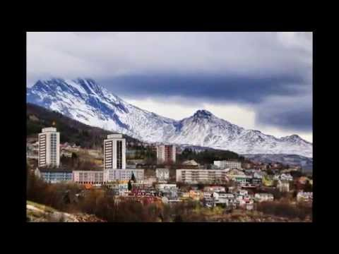 La ciudad de Narvik Noruega Otoño 2014