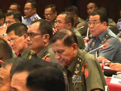Penandatangan Zona Integritas Wilayah Bebas Korupsi di Lingkungan TNI