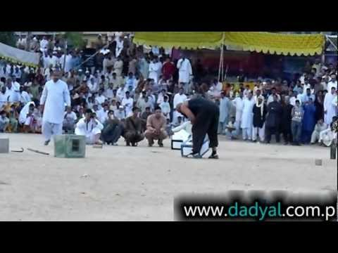 AJK - http://www.dadyal.com.pk Pahalwan Haji Wajied Picks up (172 KG) Stone at Dadyal. This is new record in stone lifting at Dadyal. Haji Wajid belong to Balathi ...