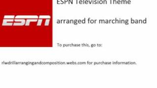 This is an arrangement of the ESPN Television Theme, which appeared on ESPN. This would be a great stands tune! I did not originally create this song, I just...