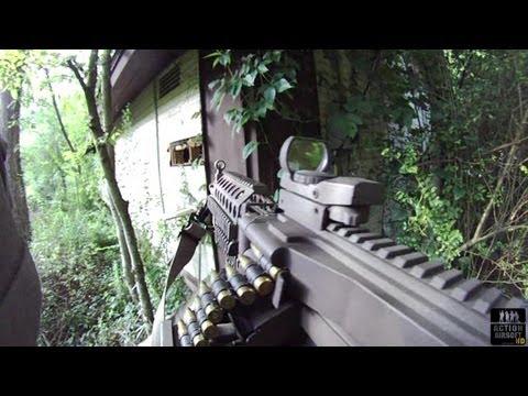 Airsoft Battles: CQC Compound Breach MK46 Machine Gun Engagement S52