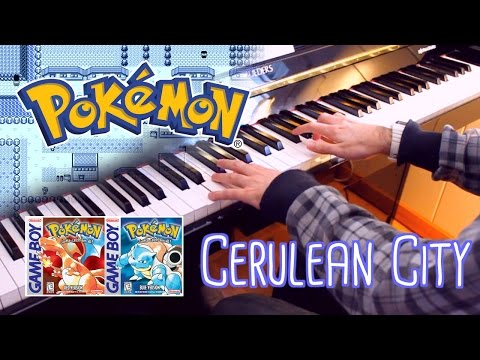 🎵 Cerulean City (Pokémon Red and Blue) ~ Piano cover w/ Sheet Music!