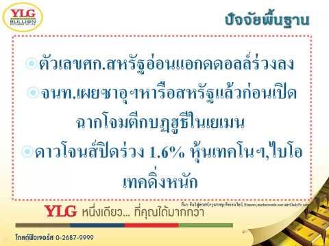 YLG บทวิเคราะห์ราคาทองคำประจำวัน 26-03-15